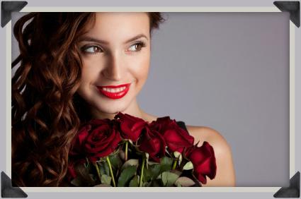 Букет от червени цветя