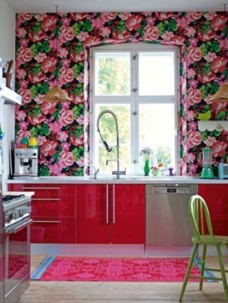 Фототапети с цветя за кухнята
